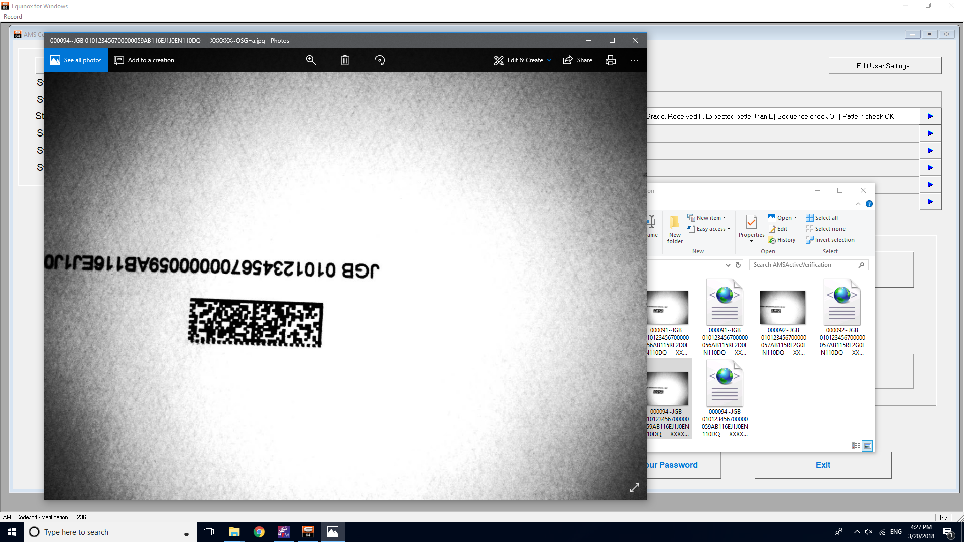 Barcode Verification ams camera verification system - ams mailing systems